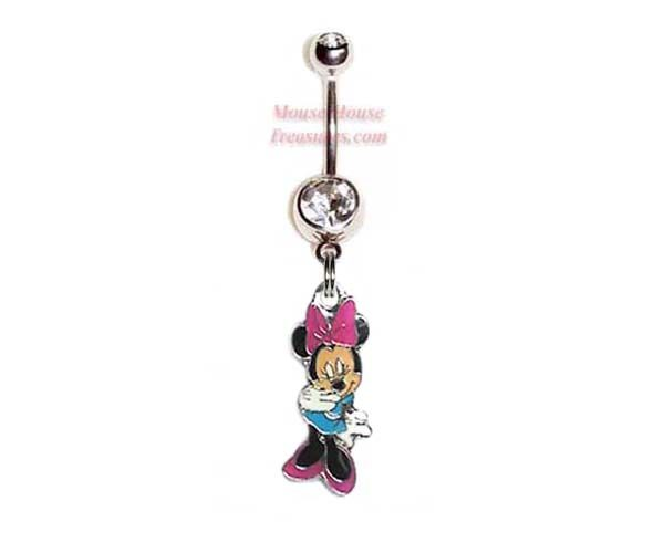 Minnie Blue Dress Belly Ring Mouse House Treasures